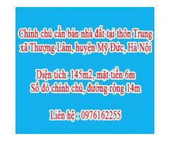 Chính chủ cần bán nhà đất tại thôn Trung, xã Thượng Lâm, huyện Mỹ Đức, Hà Nội