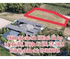 Chính chủ cần bán đất đẹp Thái Mỹ, Huyện Củ Chi, TP. HCM